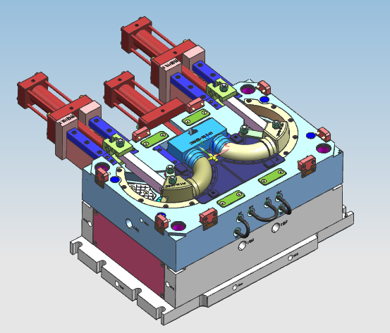 Core pulling injection mold